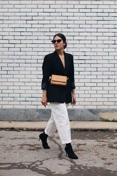 The Fashion Medley | monochrome fall layering