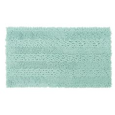 Contemporary Super Soft Knitted Textured Chenille Bath Mat 50x80cm Quick Dry