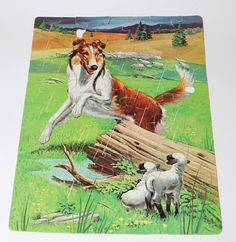 Vintage Whitman LASSIE the Collie Dog BOXED 63 Piece Jr. Jigsaw Puzzle  #Whitman