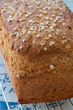 No Knead Whole Wheat Bread Recipe, No Knead Sandwich Bread Recipe, Homemade Sandwich Bread, No Knead Bread, Wholemeal Flour Recipes, Baking Recipes, Cake Recipes, Bean Recipes, Cooking Bread