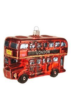Nordstrom at Home Nordstrom at Home London Bus Handblown Glass Ornament available at #Nordstrom