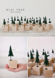 Mini tree advent calendar #christmas