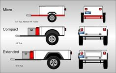 Jeep Trailer Lineup Lightweight Fiberglass Tub Kit