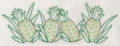 Machine Embroidery Designs at Embroidery Library! - Pineapples