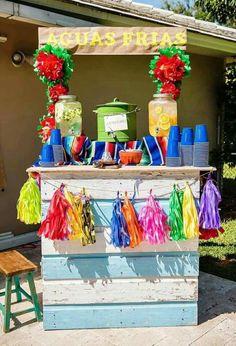 Jun 2017 - Gaia's Birthday / Fiesta / Mexican - Mexican birthday party at Catch My Party Mexican Birthday Parties, Twin Birthday Parties, Mexican Fiesta Party, Fiesta Theme Party, Taco Party, Mexico Party Theme, Mexican Party Favors, Birthday Ideas, Streetfood Festival