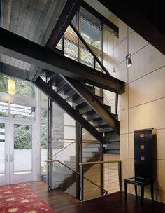 A contemporary staircase, designed by Stuart Silk Architects, www.stuartsilk.com, #contemporaryarchitecture, #contemporarystaircase