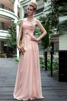 A-Line zeitloses legeres Abendkleid mit Applike
