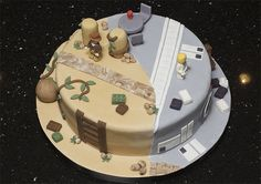 Indiana Jones and Star Wars Groom's Cake