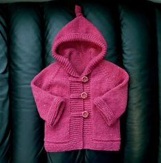 How to tutorial knitting and crochet baby pattern free Baby Sweater Patterns, Baby Cardigan Knitting Pattern, Knit Baby Sweaters, Toddler Sweater, Knitted Baby Clothes, Hoodie Pattern, Girls Sweaters, Baby Knitting Patterns, Baby Patterns