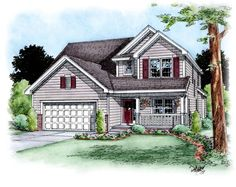 Traditional   House Plan 66690