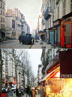 Paris Then and Now: Rue des Martyrs