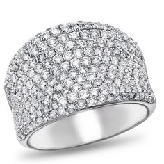 I've decided this is my next ring, though it may take a decade to get :) I tried it on and it sparkles like nothing I've ever seen! 14K White Gold, Diamond Pave Band,, 2 1/3 ctw.