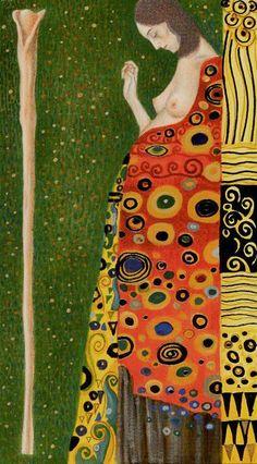 Ace of Wands - Golden Tarot of Klimt by Atanas Alexander Atanssov