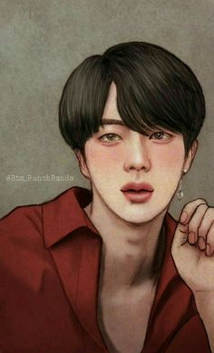 Find images and videos about bts and jin on We Heart It - the app to get lost in what you love. Namjin, Bts Jin, K Pop, Seokjin, Comme Des Freres, Fanart Bts, Kpop Drawings, Fan Art, Bts Chibi