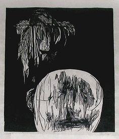 Leonard Baskin Torment, 35.5 x 23in.  1958 woodcut