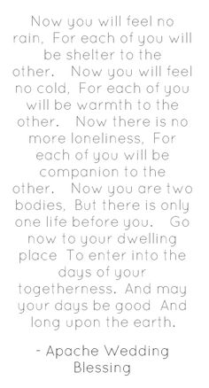 Our marriage commissioner read this near the end of our ceremony and Jake and I loved it do much we have it on our bedroom wall!