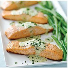 salmon en salsa de cilantro