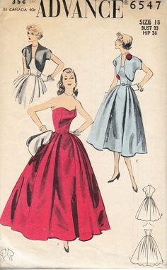 Below is a list of all of the 1950s sewing patterns on our wiki.