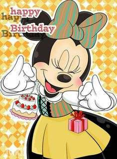 Disney Birthday Wishes, Happy Birthday Mickey Mouse, Happy Birthday Niece, Birthday Wishes Flowers, Minnie Mouse, Happy Birthday Gif Images, Happy Birthday Wallpaper, Happy Birthday Greetings, Birthday Pictures