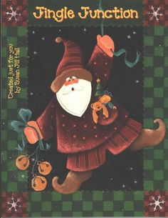 Jingle junction - monica garcia - Picasa Web Albums...THIS IS A FREE PAINTING BOOK!! Decorative Painting Projects, Tole Painting Patterns, Craft Patterns, Pattern Ideas, Painted Patterns, Decorative Paintings, Santa Crafts, Book Crafts, Christmas Crafts