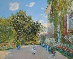 Casa e família de Monet em Argenteuil.