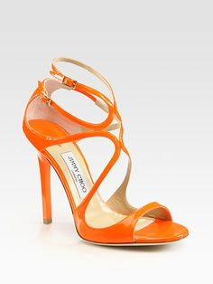 #Jimmy Choo - Lance Strappy Patent Leather Sandals