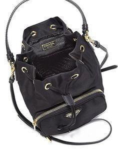 Prada Tess Drawstring Nylon Bag- Nylon Handbag Worth Purchasing!