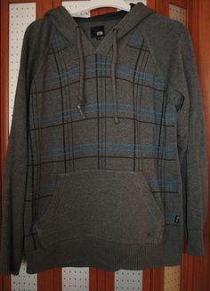 Kup mój przedmiot na #vintedpl http://www.vinted.pl/odziez-meska/bluzy/12257656-szary-sweter-bluza-w-krate-z-kapturem