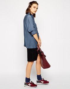 Enlarge Wood Wood Damia Shirt with Long Sleeves