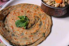 Mint Paratha Recipe / Pudhina Paratha Recipe