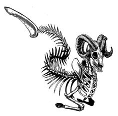 Skeleton Sea Goat Capricorn Tattoos for Men | Just Free Image Download