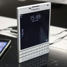 BlackBerry Passport White...Reading good things about the BB passport...hmm...might be my next phone?