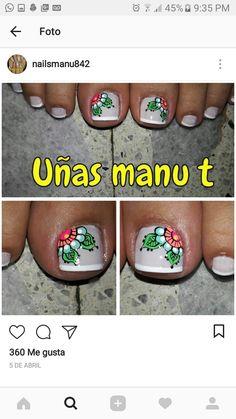Toe Nail Art, Toe Nails, Manicure Y Pedicure, Cute Nail Designs, Hair, Beauty, Yellow Nails, French Nails, Short Nails