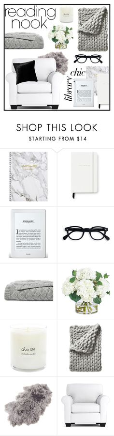 """""""#readingnook"""" by kayemjay ❤ liked on Polyvore featuring interior, interiors, interior design, home, home decor, interior decorating, Kate Spade, Nook, Lands' End and Frontgate"""