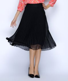 Take a look at this Black Accordian Skirt today!