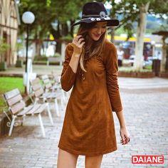 Dhani Weiss com vestido suede Daiane Store ca1570a74ad