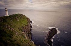Akraberg Lighthouse on Suðuroy, Faroe Islands