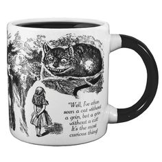 Disappearing Cheshire Cat Mug: As the mug warms up, the cat disappears, leaving his famous grin behind.