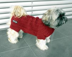 Hand Knit Dog Sweater by majStyle on Etsy