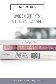 Découvrez ma sélection de 8 livres inspirants pour gagner en sérénité ! A lire avant de dormir et à consommer sans modération !