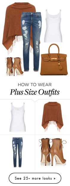 """Untitled #483"" by sylvia-tall on Polyvore featuring Jimmy Choo, Hermès, Samoon and Tommy Hilfiger"