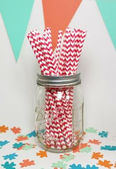 PARTY in a bag...coral and mint party favors by katemaedesigns, $25.00