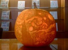 Starry Night pumpkin