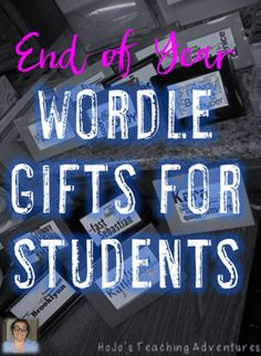 Are you looking for a great end of year school gift that your students can give to one another? Then you're going to love Wordles! Find out how you can DIY these pretty easily with very little expense by clicking through! Great for your 2nd, 3rd, 4th, 5th, 6th, 7th, 8th, 9th, 10th, 11th, or 12 grade students!