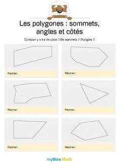 Le but de l'exercice est de compter le nombre d'angles, de côtés ou de sommets dans un polygone puis de compléter la phrase. Catégorie : Géométrie Module : Polygones : sommets, angles, côtés. Application téléchargeable sur l'AppStore. Pour en savoir