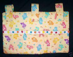 Care Bears Yellow Crib Nursery Baby Organizer Accessory Holder Custom Made | eBay