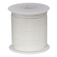 a 24 awg gauge stranded hook up wire white 25 ft 00201 ul1007 300 volts