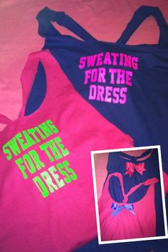 Sweating for the Dress Workout Tank Top by RufflesWithLove on Etsy, $20.00