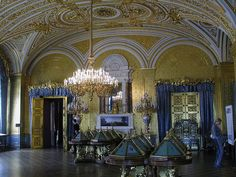 From the Hermitage Collection in St. Petersburg Russia. This nice room has a gem collection. Photographing the individual gems was not allowed. But at least I could take a photo of the room.