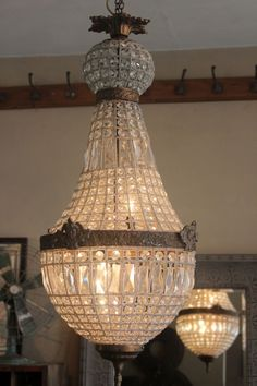 attic - EMPIRE LARGE CHANDELIER - beautiful french beaded glass chandelier